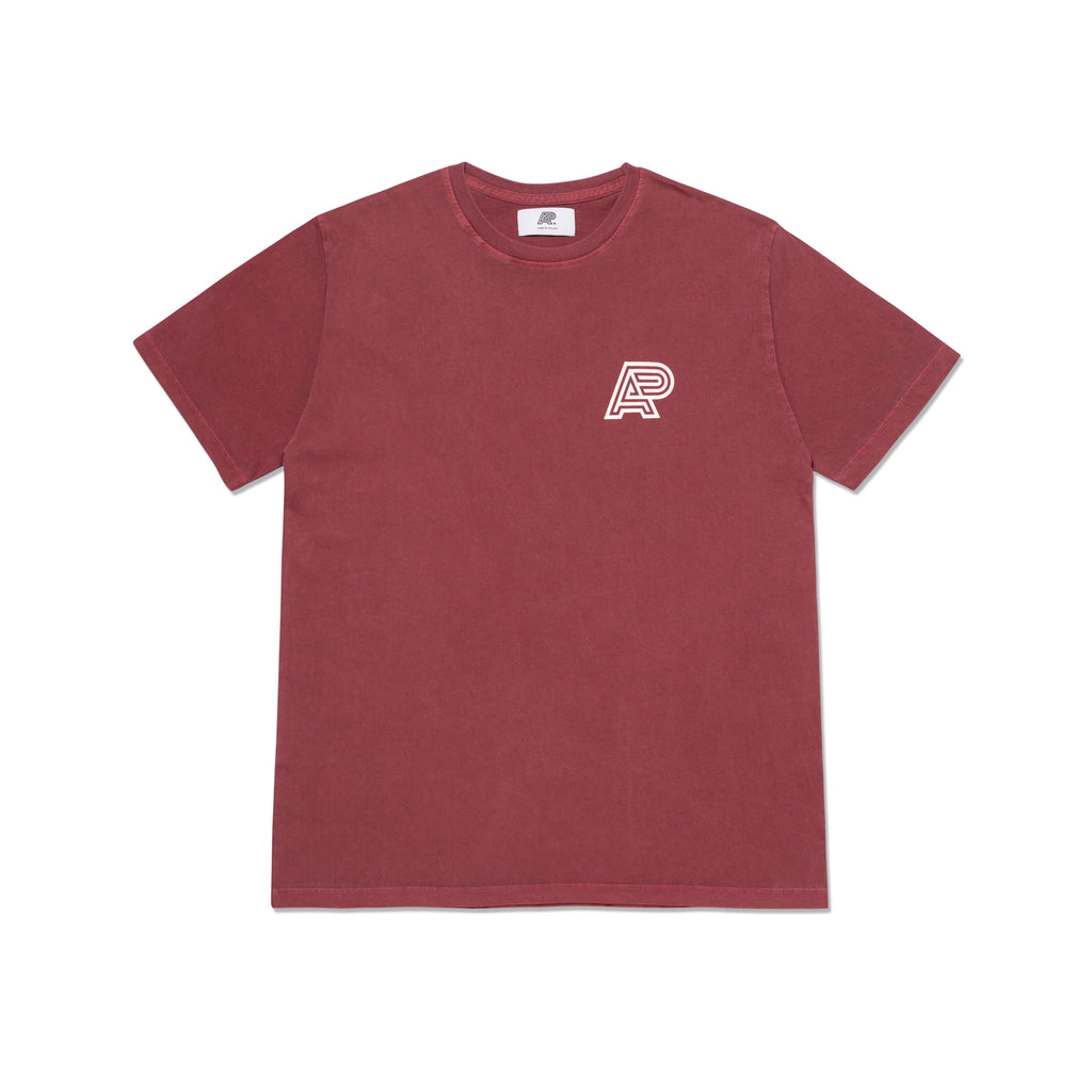 A&P PIGMENT DYED MARK TEE BURGUNDY