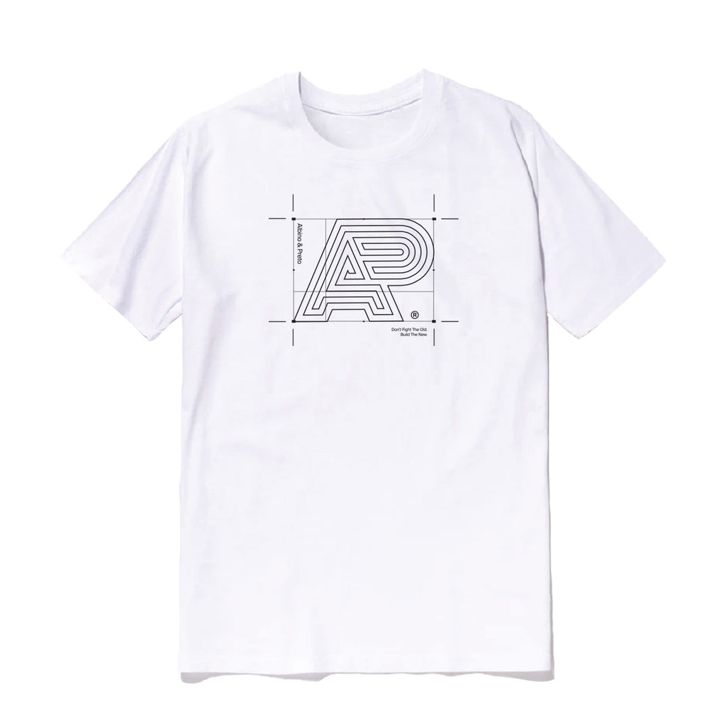 A&P BUILDING BLOCK CROP TEE WHITE