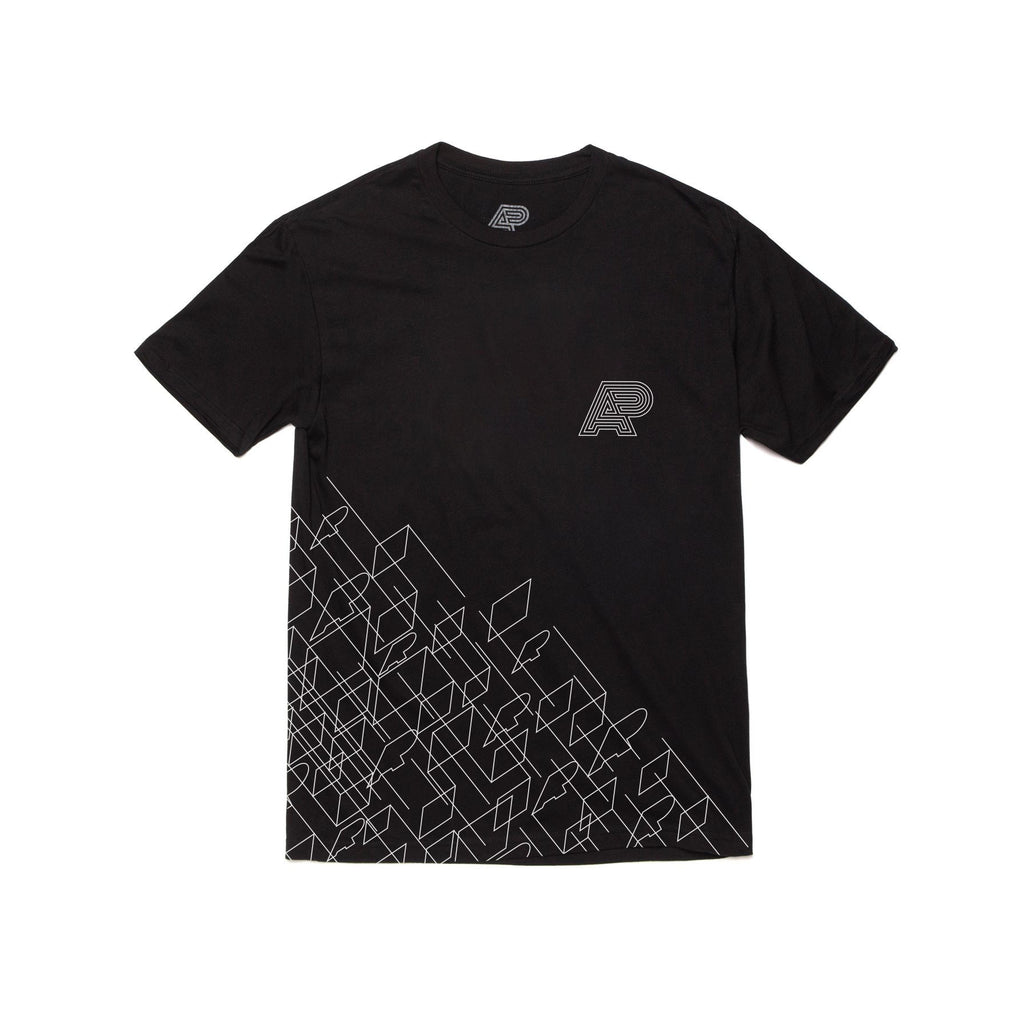 A&P WIREFRAME TEE BLACK