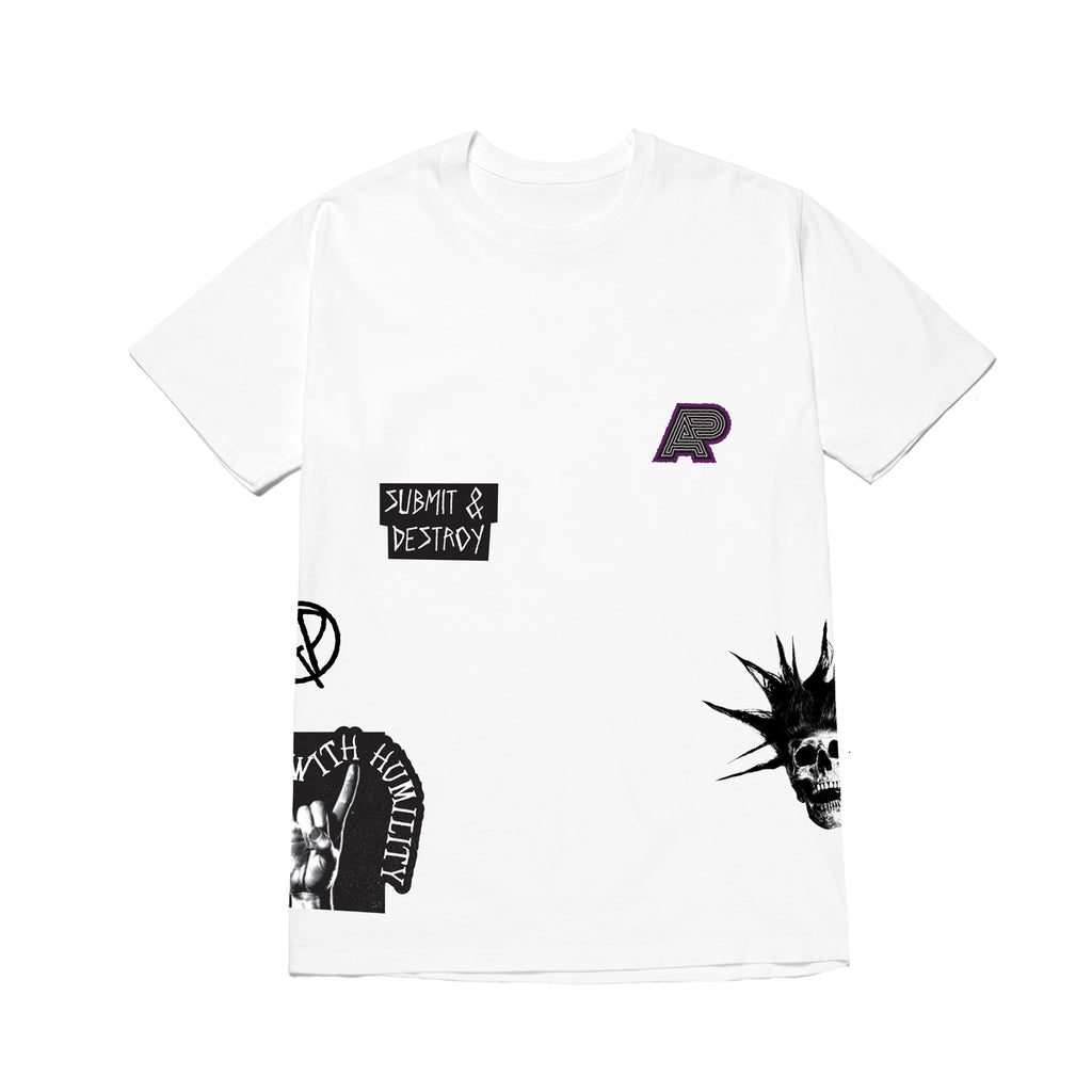 A&P NO MERCY AOP TEE WHITE