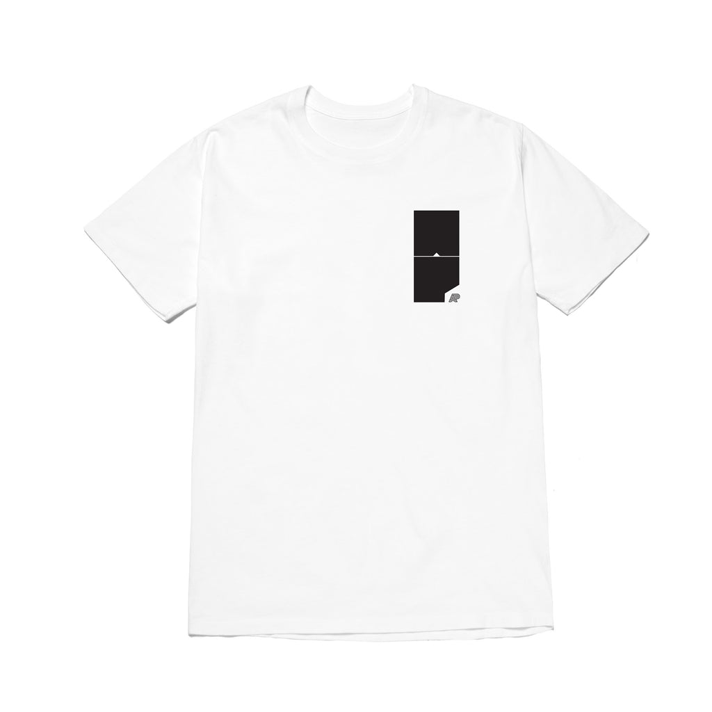 A&P BLOCK MARK TEE WHITE