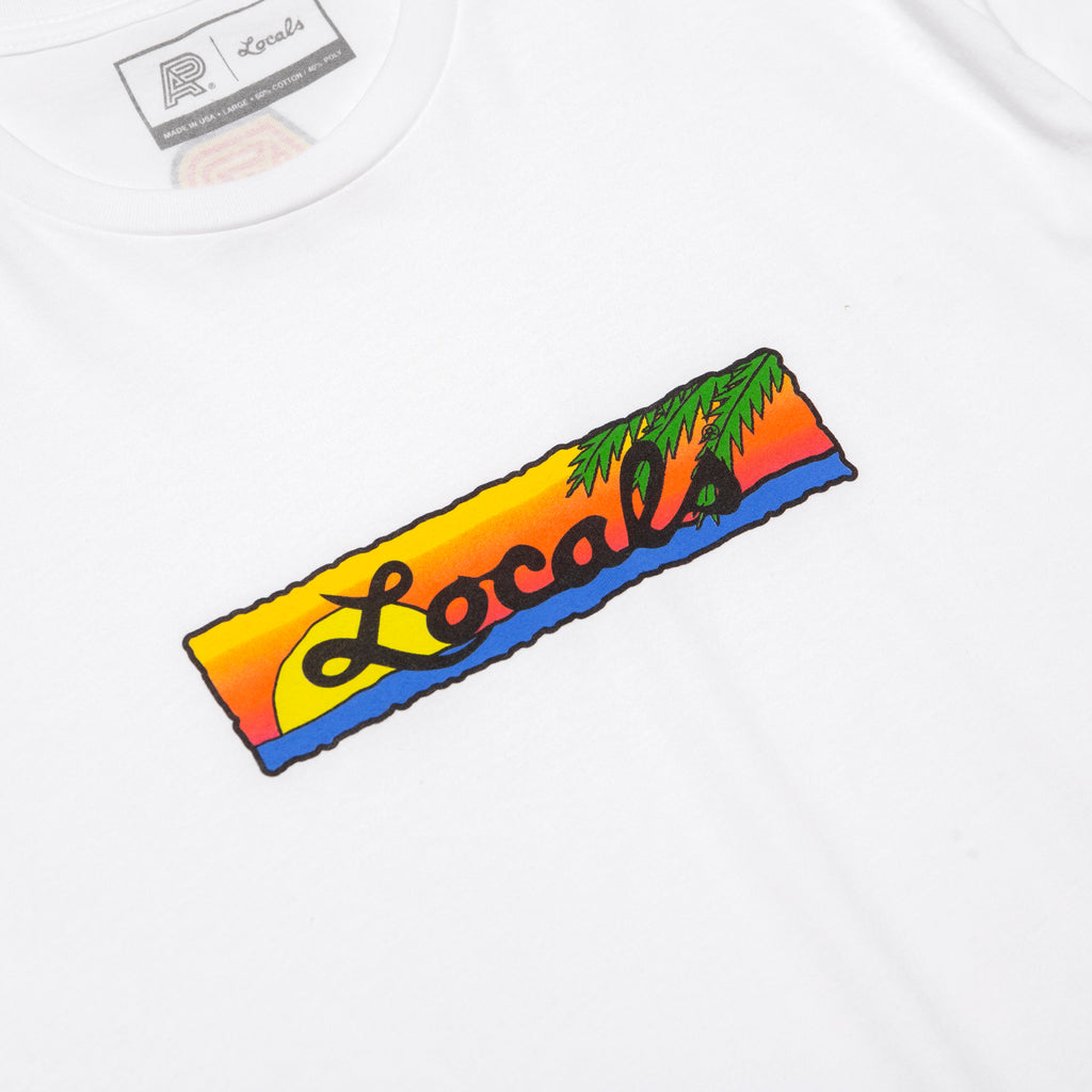 A&P LOCALS SUNSET TEE WHITE
