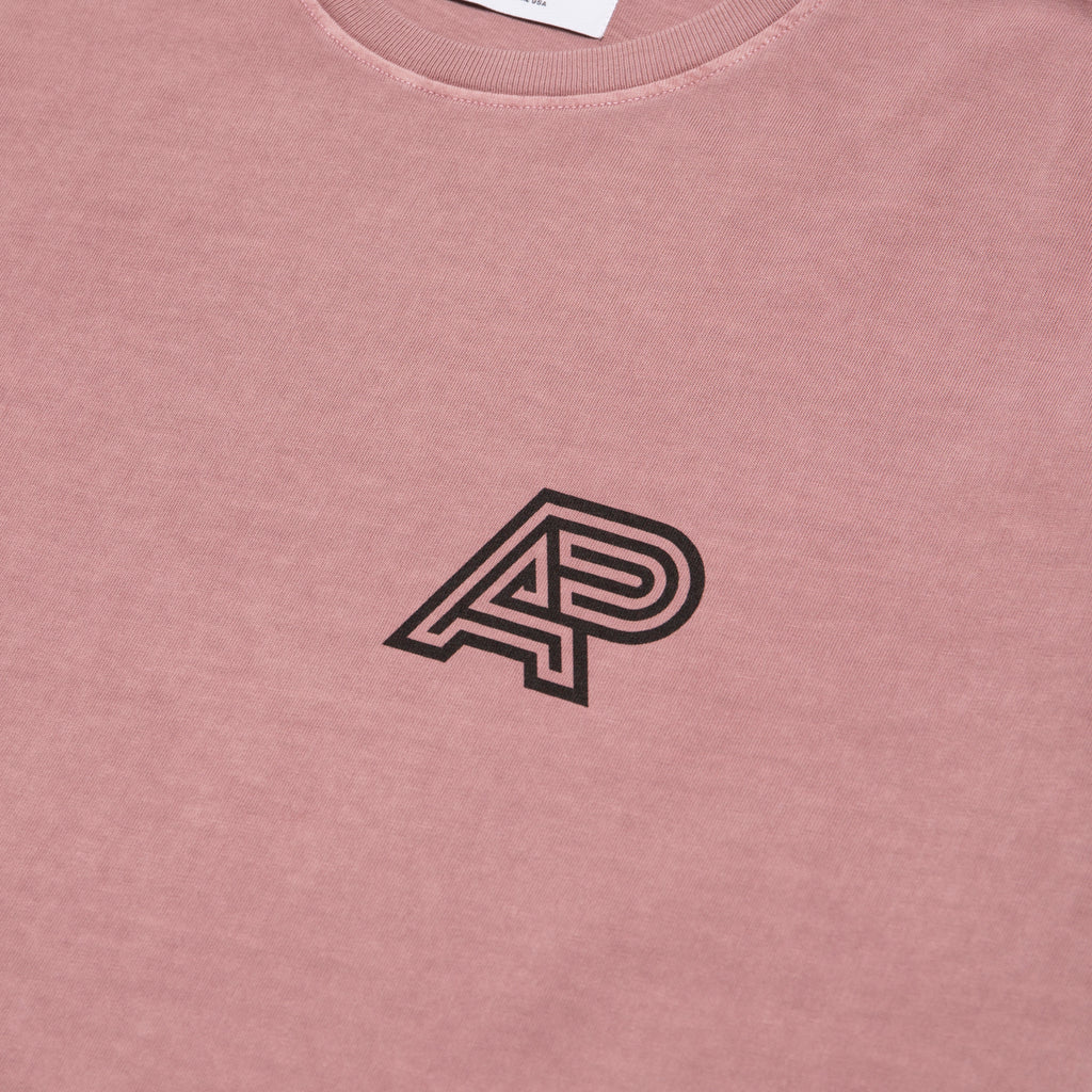 A&P PIGMENT DYED MARK TEE OD SALMON