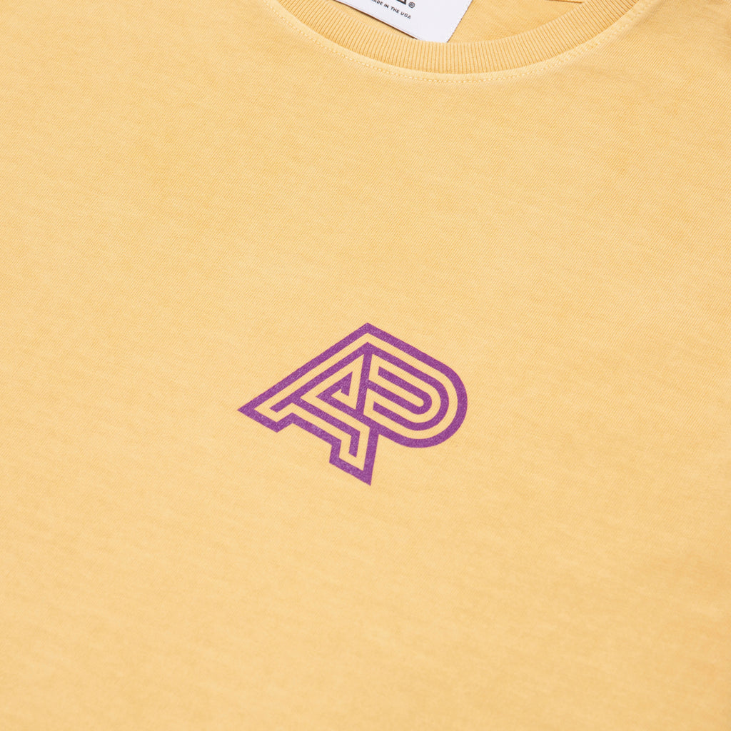 A&P PIGMENT DYED MARK TEE YELLOW