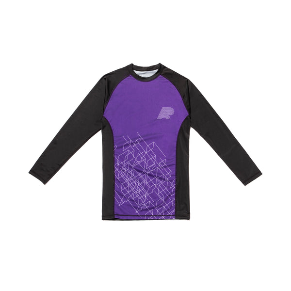 A&P WIREFRAME RASHGUARD PURPLE