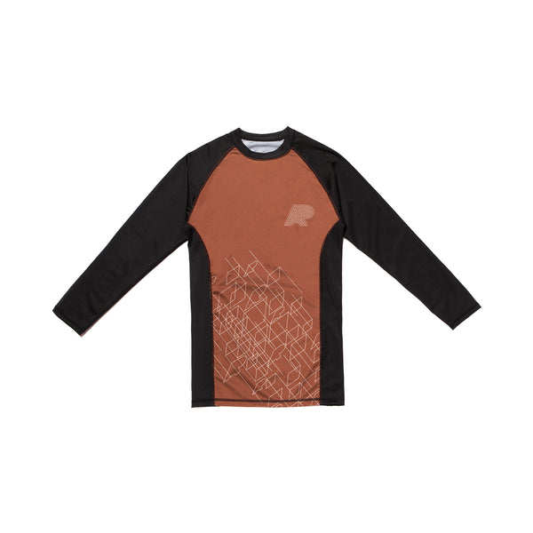 A&P WIREFRAME RASHGUARD BROWN