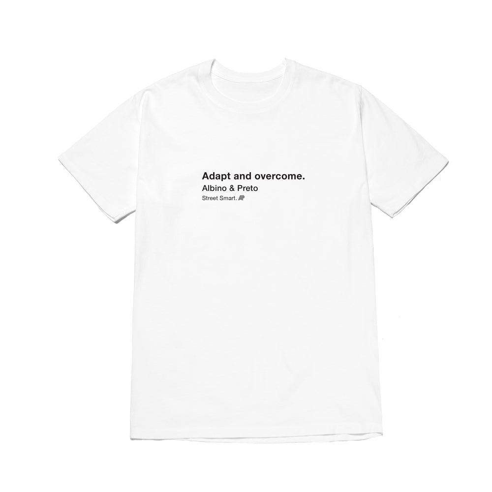 A&P ADAPT & OVERCOME TEE WHITE
