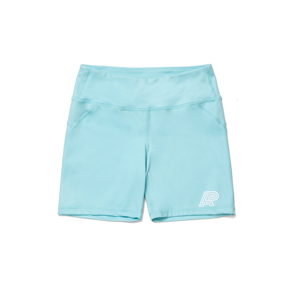 A&P WOMENS COMPRESSION SHORTS TURQUOISE (FULFILLMENT)