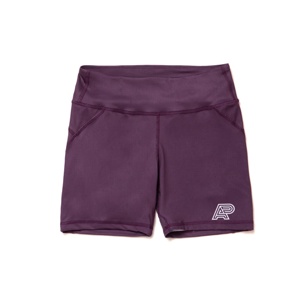A&P WOMENS COMPRESSION SHORTS PURPLE