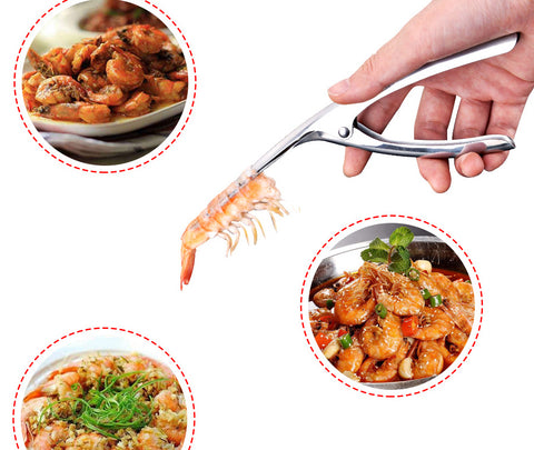 save time with the shrimp peeler for shrimp dishes