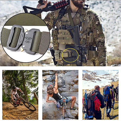 Tactical Survival Waist Belt Use
