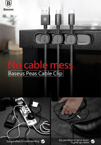Magnetic Tidy Cable Organizer No Messy Cables