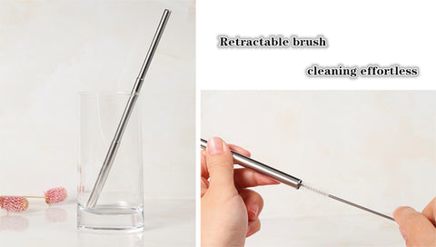 Use and cleaning of reusable straw
