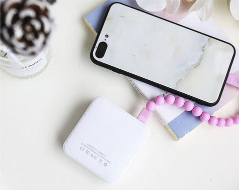 cute cartoon mini power bank charging phone
