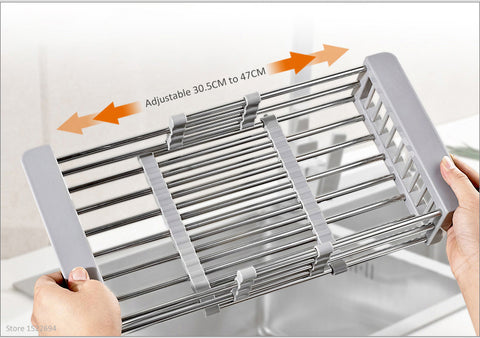 Adjustable Dish Rack Over Sink Dimension