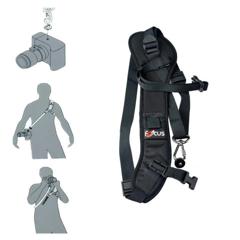 ease of use of shoulder strap for dslr camera