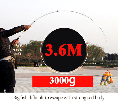 Hard FRP Telescopic Fishing Pole Big Rings