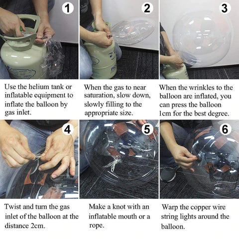 How To Inflate Reusable Led Balloon