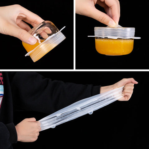Reusable Stretch Universal Cover Lids Use