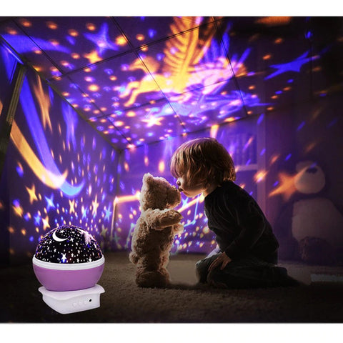 Unicorn Star Night Light Projector Fills Room With Projected Stars