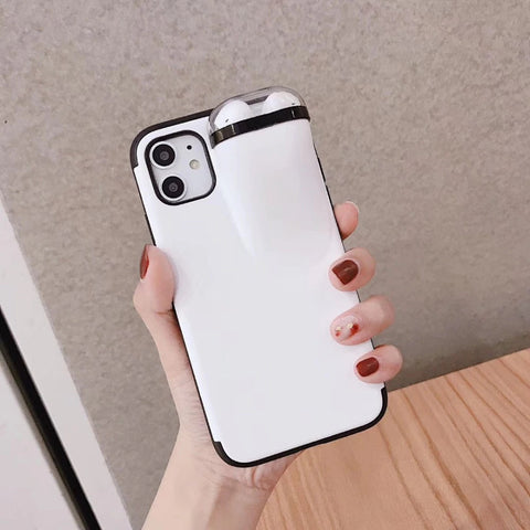 iPhone Case With AirPods Holder Cover No Fear Of Loosing Airpods