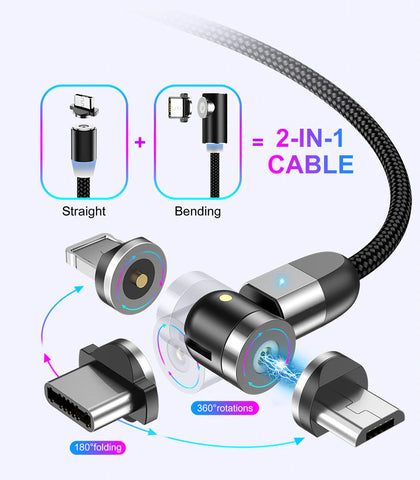 Magnetic USB Type C Charge Cable Features
