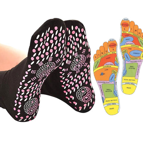 Reflexology Massage Socks Foot Mapping Pressure Points