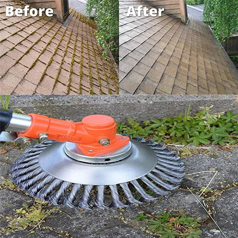 LawnPerfect Steel Wire Weed Trimmer Before After