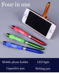 4 in 1 Stylus Mobile Holder LED Pen