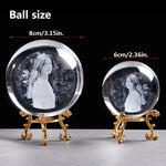 Personalized Crystal Photo Ball