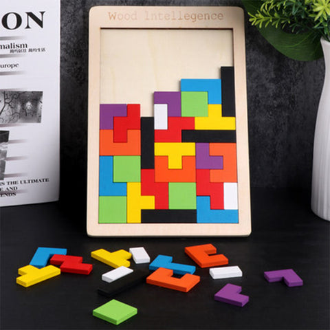 Educational Game Jigsaw Tetris Cubes
