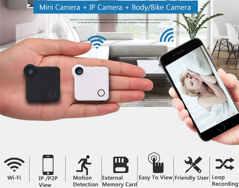 Mini Wifi Wearable IP HD Camera