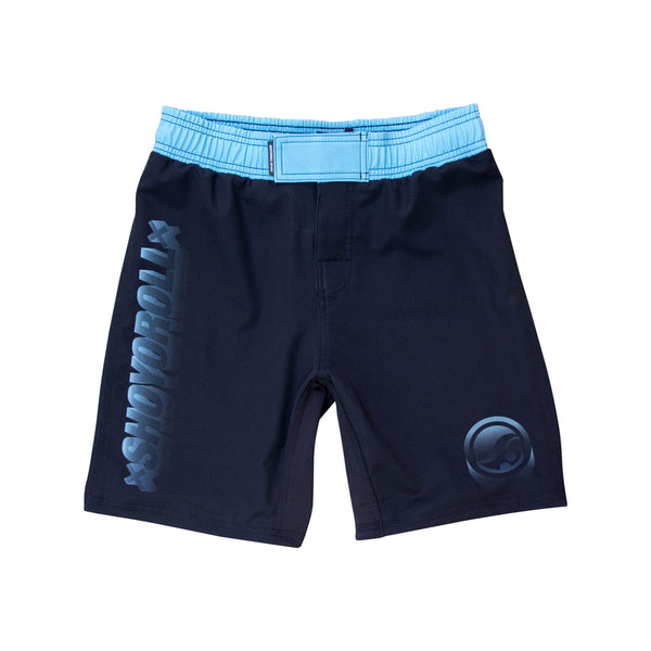 Wireframe Flex Fitted Shorts- Black/Blue