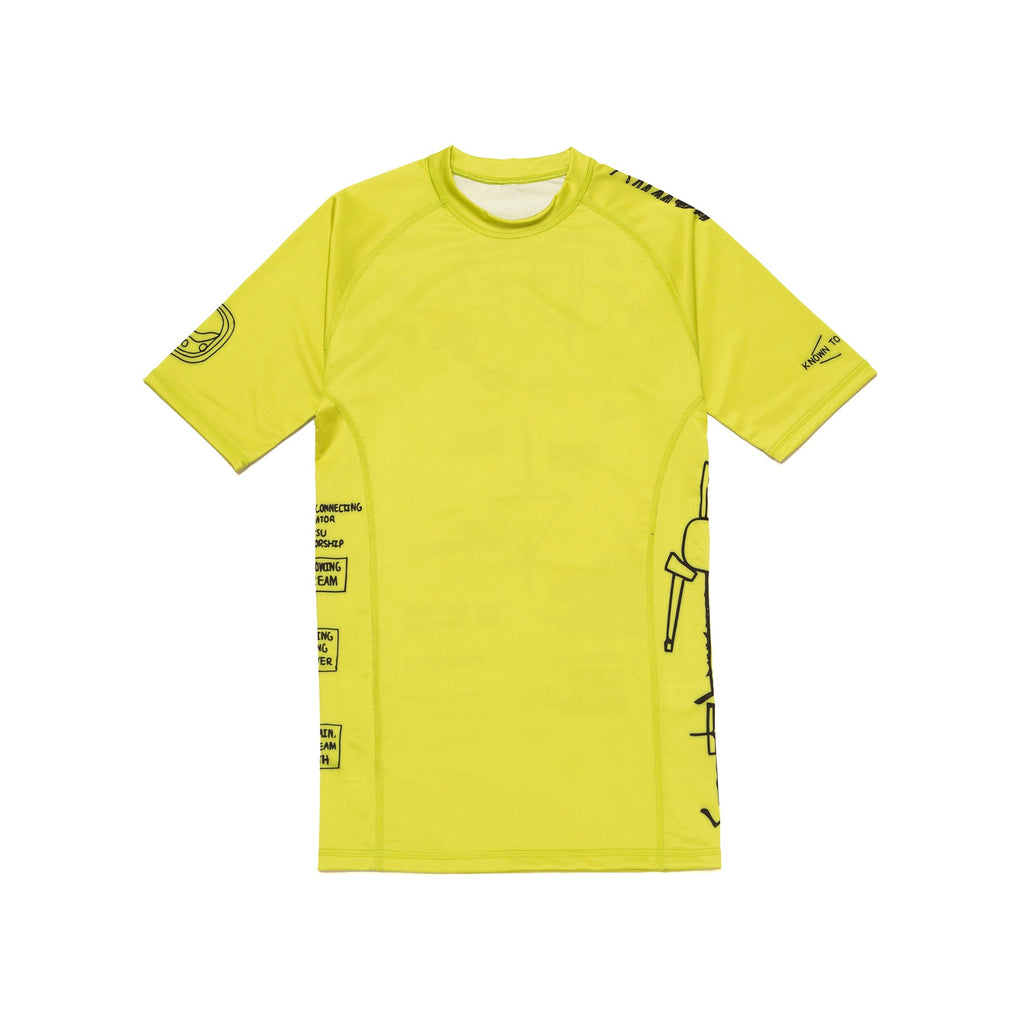 Training Rash Guard SS (VITAL) Yellow