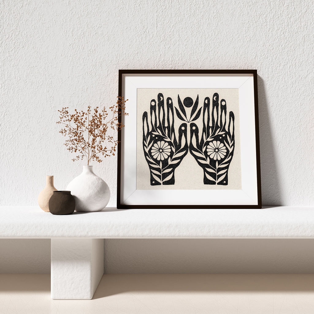 GROWTH IN YOUR HANDS PRINT BY REALFUNWOW