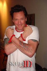 Michael Madsen wearing Skull ID fashionable jewelry