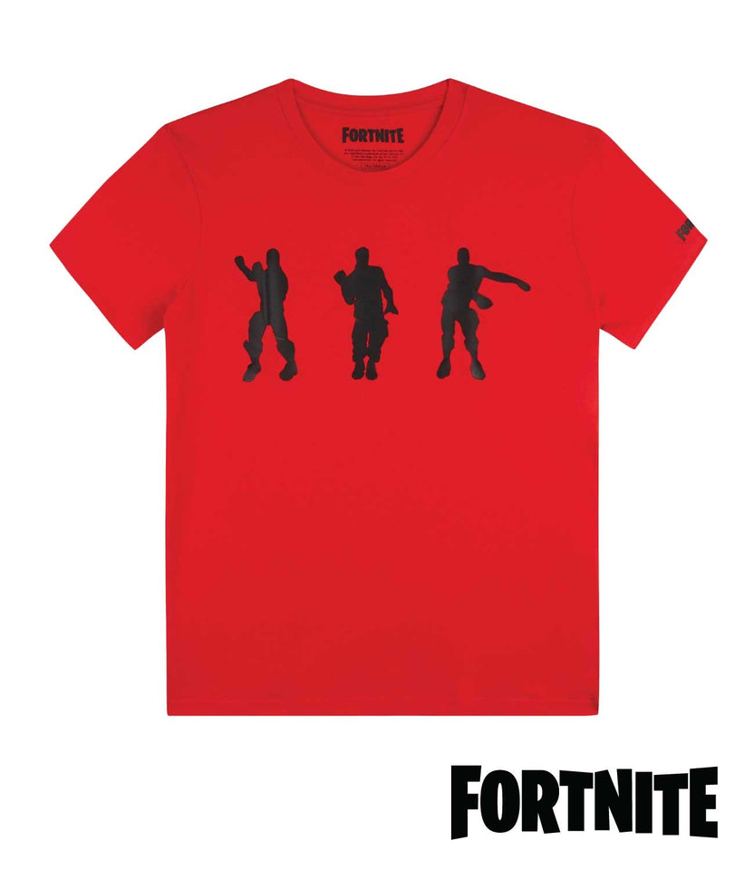 Fortnite Dancing Red T-Shirt for KIDS