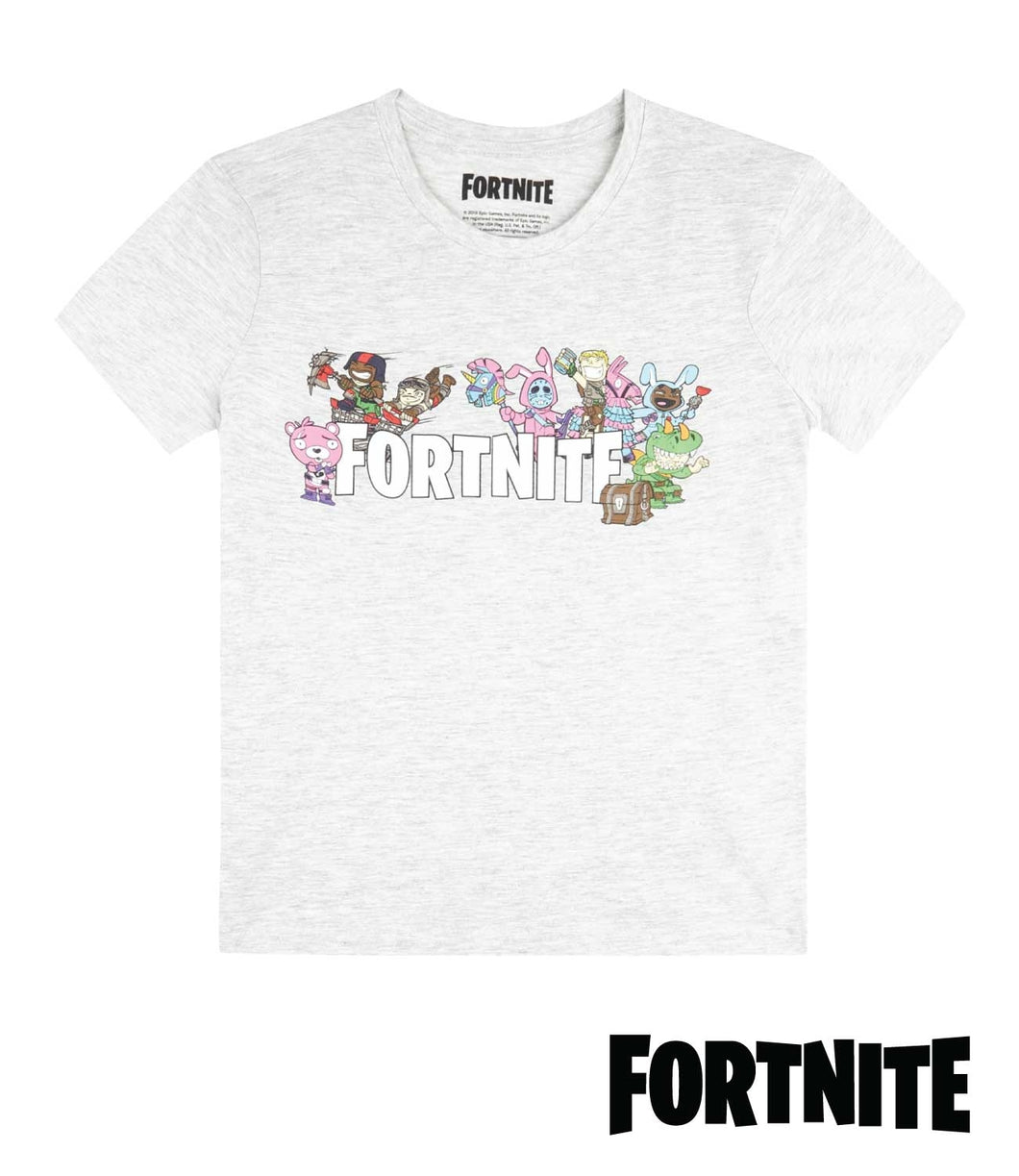 Fortnite Logo With Heroes T-Shirt for KIDS