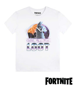 Fortnite Loot Llama White T-Shirt for KIDS