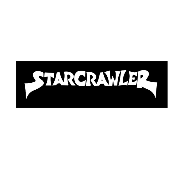 Black and White Starcrawler Logo Fabric Patch