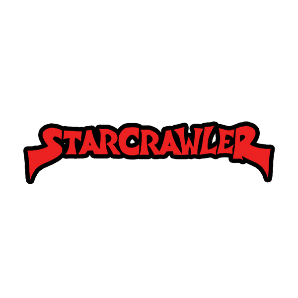 Red and Black Starcrawler Logo Embroidered Patch
