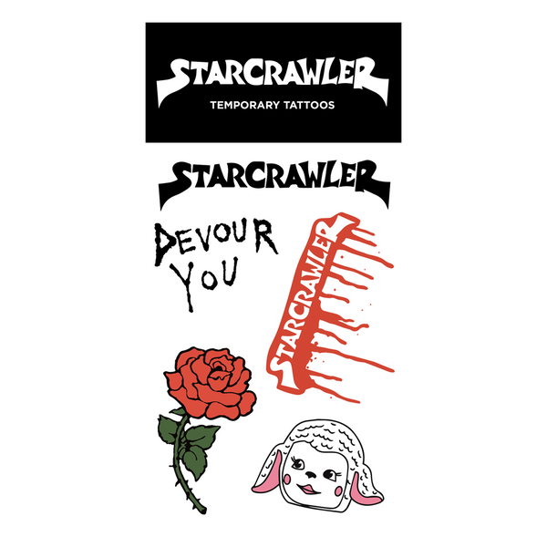 Starcrawler Temporary Tattoos