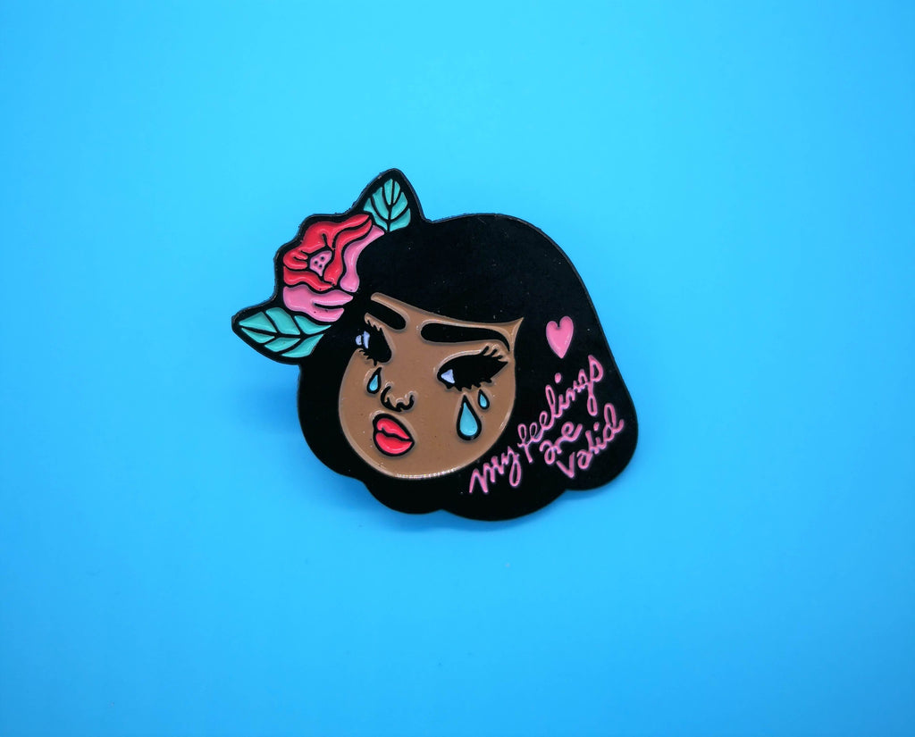 Lemon Gift Box - Lola Feelings Are Valid Enamel Pin | Feminism | Mental Health Awareness