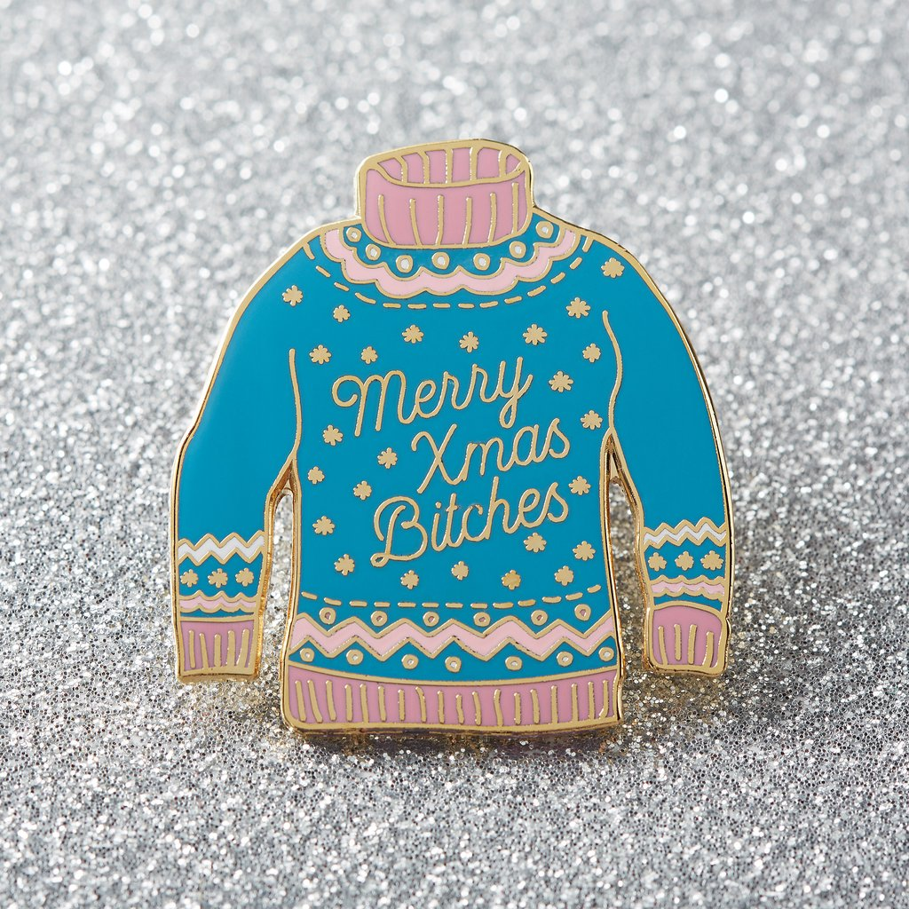 Lemon Gift Box - Sassy Christmas Enamel Pin | Punky Pins