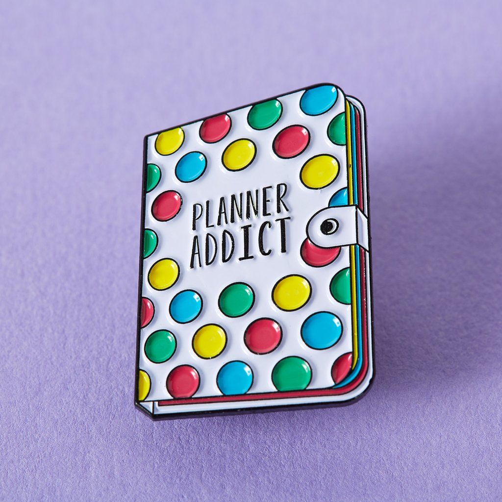 Journal Planner Addict Enamel Pin