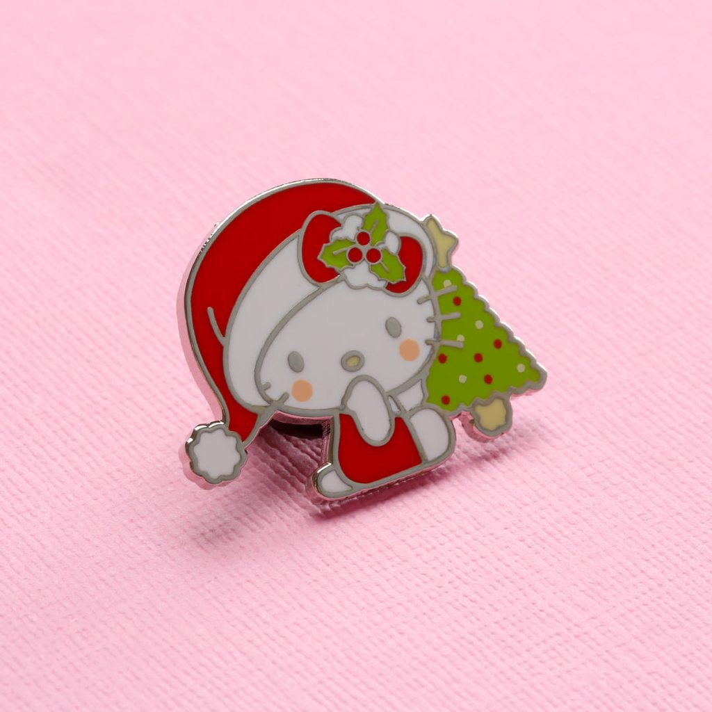 Lemon Gift Box - Hello Kitty Christmas Tree Enamel Pin | Punky Pins x Sanrio