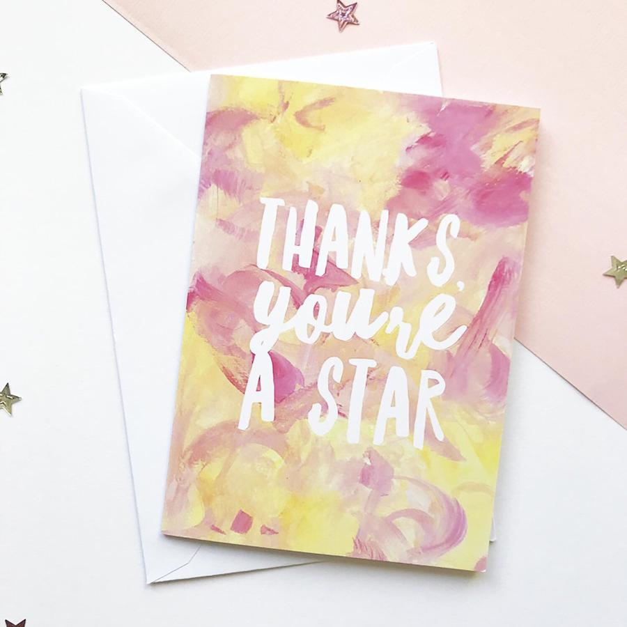 'Thanks, you're a star' Greeting Card