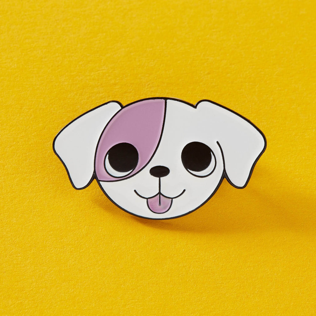Lemon Gift Box - Cute Pink Patch Puppy | Punky Pins