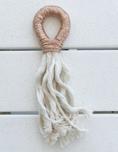 Load image into Gallery viewer, Fall/Holiday Rosé Tassel- metallic rose gold