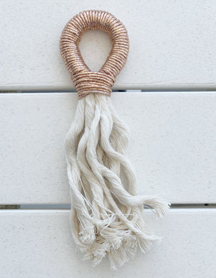 Fall/Holiday Rosé Tassel- metallic rose gold